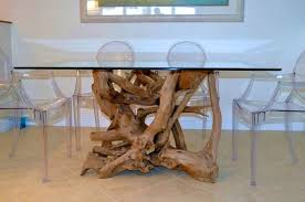 table captivating glass dining room bases 27 interesting driftwood design ideas and tables base grey i o