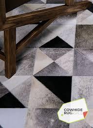 geometric cowhide rug 2
