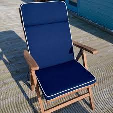navy recliner garden chair cushion and
