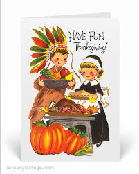 Vintage Thanksgiving Cards Harrison Greetings Business Greeting