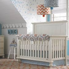 greek key perless crib bedding aqua