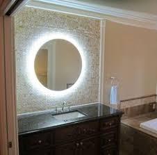 miror lighting. round bathroom mirror with illuminated background miror lighting u