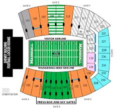 joan c edwards stadium seating map