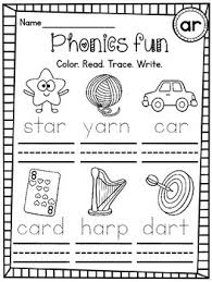 Use these phonics worksheets, videos, and flash cards to help your students practice the basics. Free Differentiated Color Trace Write Worksheets Ar Sound By Miss Giraffe