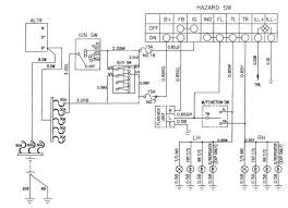 circuit and wiring diagram daewoo korando turn signal and hazard lamp schematic and routing diagrams