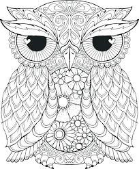 Owl Mandala Coloring Pages Printable Page Free For Adults Easy Lotus