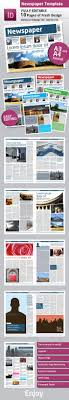 newsletter template for pages newspaper template a4 and a3 format 10 pages newsletter
