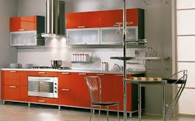 Creative Small Kitchen Creative Small Kitchen Design With Chairs Iron Leg And Red Cabinet