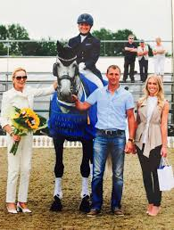 outstanding dressage at hickstead jeannie s equestrian world british rider maria eilberg after a fine performance photo courtesy of spidge event photography 07880