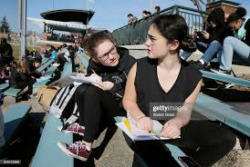 Freshmen Amelia Keenan, left, and Mary Duffy write letters to ...