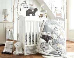 baby bailey charcoal and white woodland themed 5 piece crib bedding set levtex fiona toddler