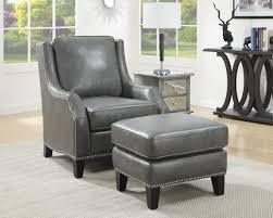 Leather Accent Chair With Ottoman Grey Leatherette Accent Chair Ottoman Caravana Furniture