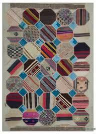 kilim patchwork rug 5 6 x 7 8