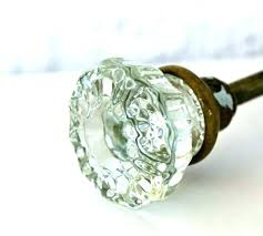 glass door knobs clos gleaming