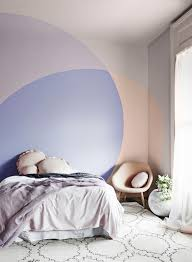 view in gallery peach and purple color blocked paint with overlapping effect