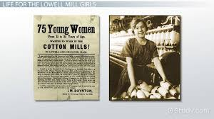 role of women in colonial america video lesson transcript the lowell mill girls their working conditions