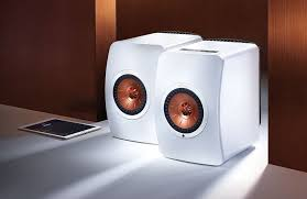 kef ls50. kef ls50 speakers (pair) - gloss white wireless device kef ls50