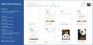 Microsoft Web Page Templates Starting From Blank Design Templates In The Word 2013 Microsoft