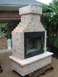 classic brick outdoor fireplace gas wood gel fuel patio builders kit