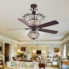 charla 4 light crystal 5 blade 52 inch chandelier ceiling fan