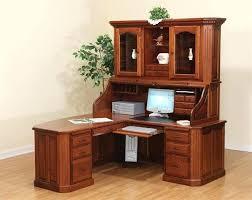small dark oak desk