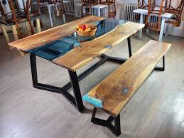 river edge furniture. contemporary furniture live edge river table with bench inside river edge furniture