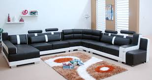 modern leather sectional couch. Unique Modern Downtown Contemporary Bonded Leather Black And White Sectional Sofa  Flower Pict Carpet Beautifull Decoration Ideas At To Modern Couch