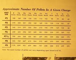 Buckshot Chart Buckshot Chart Pellets In Shell Bing Images Ammunition