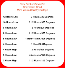 Oven To Slow Cooker Conversion Chart Crock Pot Chicken Veggie And Rice Casserole