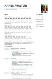 Communications Coordinator Resume Samples Visualcv Resume Samples