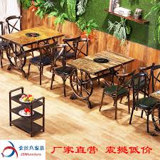 antique restaurant furniture. Delighful Furniture Factory Direct Hot Pot Tables And Chairs Induction Cooker Gas Retro  Antique Industrial Wind And Restaurant Furniture