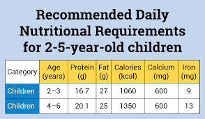 Healthy Food Chart For 3 Year Old Nutrition Requirements 0 5