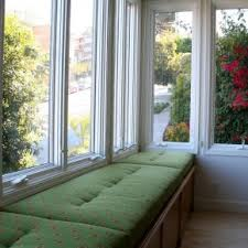 window seat furniture. Princely Open Views Sunroom Ideas With Green Fabric Cover Window Seat Cushions Added Furniture