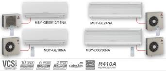 mitsubishi electric heating and cooling ductless air conditioners click to view models and specifications