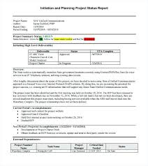 Sample Project Quarterly Report Template 8 Free Documents In Format ...