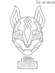 Fortnite Battle Royale Coloring Page Drif Mask Free Printable In
