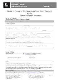 Rent Increase Notification Letter Free Rent Increase Notice Letter Templates At Allbusinesstemplates Com