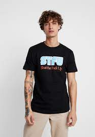 Mister Tee STFU TEE - T-Shirt print - black/schwarz - Zalando.de