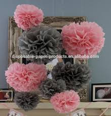 Party Decorations Tissue Paper Balls Pink theme Party ideas Tissue Paper Pom Poms Honeycomb Balls Paper 33
