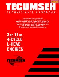 Tecumseh 3 to 11 HP Engine Manual | manualzz.com