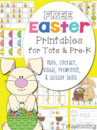 Free Easter Printables for Toddlers and PreK   Totschooling ...