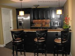 Basement Wet Bar Design Enchanting Basement Wet Bar With Granite Countertops And Stainless Steel