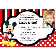 Mickey Mouse First Birthday Party Invitations Mickey Mouse