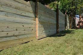building wood fence on uneven ground best fence for