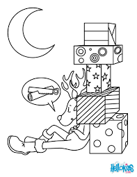 Small Picture Sleeping christmas reindeer coloring pages Hellokidscom