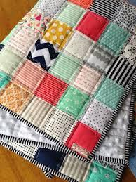 10 best Quilts images on Pinterest | Beginner quilting, Patchwork ... & Patchwork baby quilt - Muffins + Marathons, so cute! Tons of cute ideas for DIY  baby stuff! Adamdwight.com