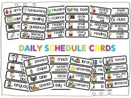 Class Timetable Template Inspiration Daily Schedule Cards Free Printables Classroom Daily Schedule