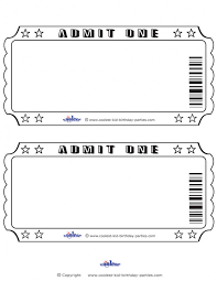 Admit One Ticket Template Free New Printable Templates Meal Ticket Template Admit One Invitations