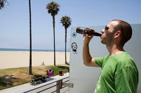 chive office. Drinking A KCCO Black Lager At The Chive Office, Venice Beach, California Office