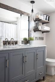 How to Frame a Bathroom Mirror. Grey Bathroom CabinetsGrey ...